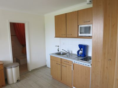 Photo for Holiday apartment with sea views and free wifi for 2 adults + 2 children