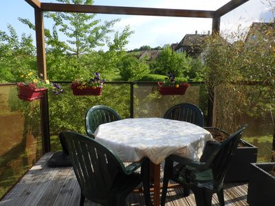 Photo for 3 *** cottage with terrace suspended in the heart of the vineyards