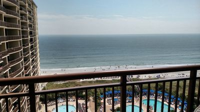 Photo for 1BR Oceanfront Condo with Full Kitchen & Jacuzzi Tub At Award-Winning Resort!