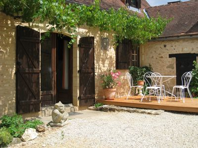 Romantic inner courtyard with seating area