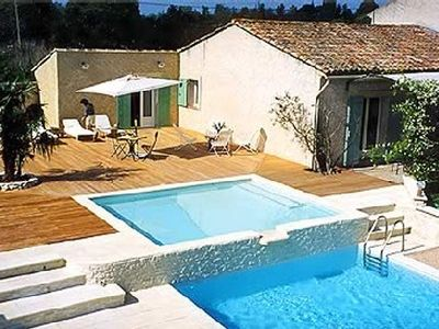 Photo for Renovated country house, ideal for 3 families, with heated pool, tennis...