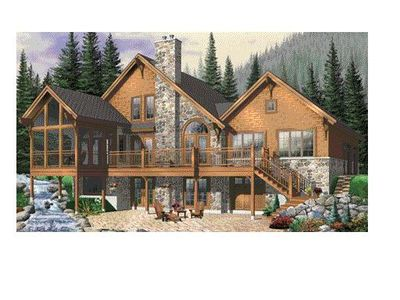 Photo for Rustic Elegance in a Custom Designed Luxury Mountain Home - Great Location
