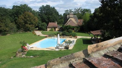 Photo for In the Dordogne, authentic house in eighteenth private hamlet with pool
