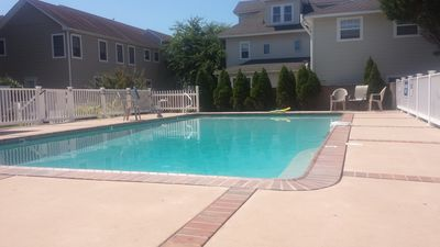 large pool shared between only six units