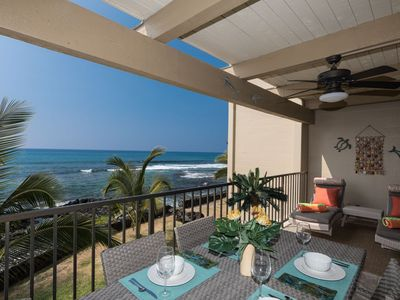 Photo for Beautiful Oceanfront Kona Bali Kai Unit #203 Two Bedroom Condo