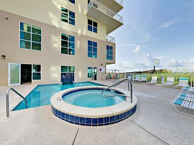 Pool - Splash in the shared pool and spa or sunbathe on loungers.