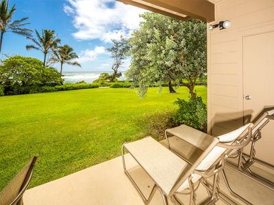 Photo for Cheery Condo Steps from the Surf! Island Style w/Lanai, Kitchen WiFi–Kaha Lani 127