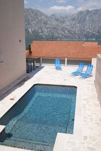 Photo for Stunning 3 Bedroom Apartment With Pool In Prcanj, Kotor With Pool And Sea View