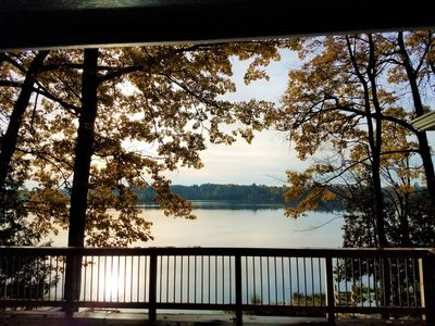 Fall morning on the deck