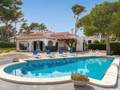 Photo for 4 bedroom Villa, sleeps 9 in Cala Blanca with Pool and WiFi