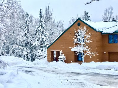 Photo for Mount Washington Place townhome with great views of the ski trails! Pool table, foosball, free shuttle! Minutes to hiking, swimming, fishing, StoryLand and Santa's Village