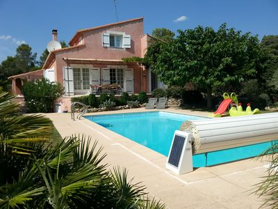 Photo for Villa with Private Heated Pool (mid-May - mid October) in Medieval Village