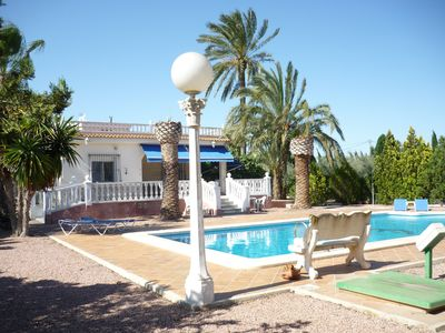 Photo for Luxury country Villa with pool MATOLA ALGODA ELCHE ALICANTE COSTA BLANCA Spain
