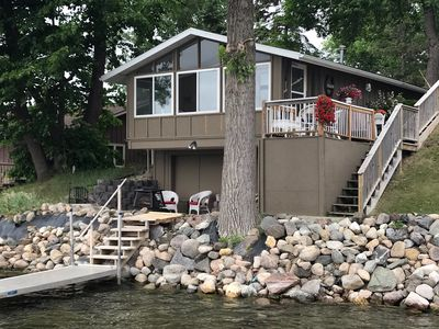 Cozy cabin at the waters edge. Dock right out front. Fireplace.