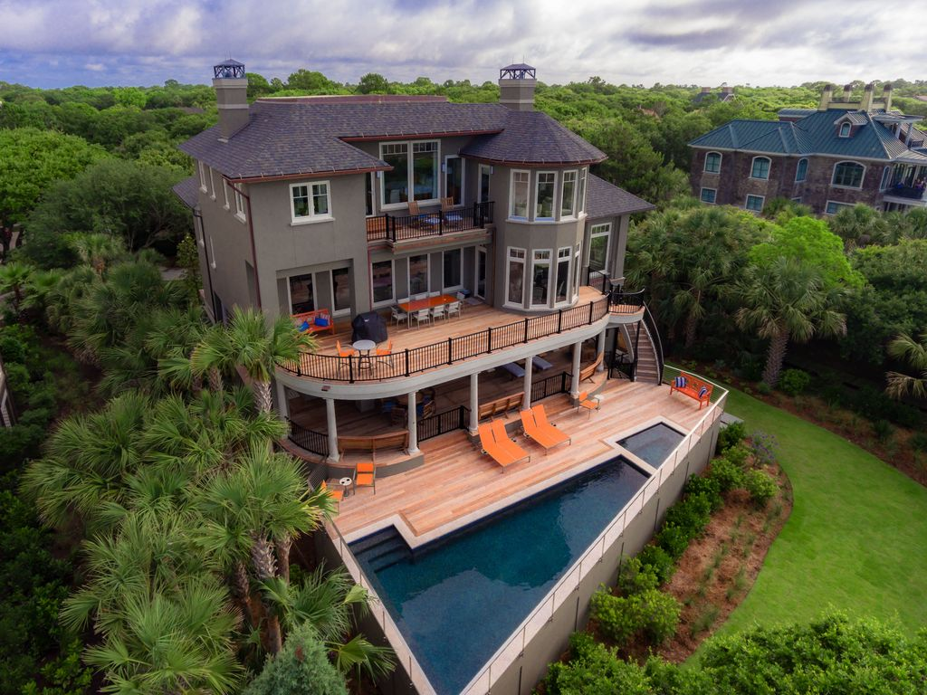 46 Surfsong Luxury Oceanfront 7 Bedroom Home With Pool And Private Boardwalk Kiawah Island