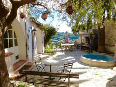 Photo for Wonderful Cote d'Azur Home With Terraces + Hot Tub + A/C - Ideal For Food Lover