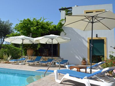 Photo for Beautiful Tranquil 3 bed 2 bath Villa with large Private pool 5 min from Lindos