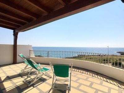 Photo for Penthouse Tornese in Salento Sea front - Torre San Giovanni