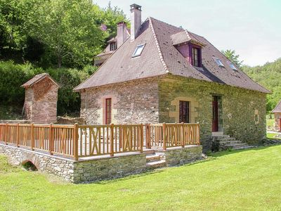Photo for Authentic cottage with heated pool (12x6) close to a river surrounded by nature.
