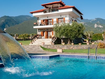 Photo for Villa Nefeli - Beautiful villa with sea and Olympus mountain view