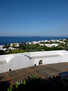 Photo for Charming Eolian villa, with spectacular view on Stromboli.
