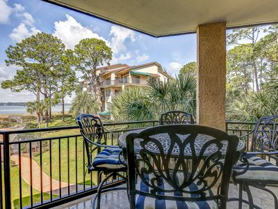 Photo for 1855 Beachside Tennis - Gorgeous Views of Calibogue Sound!