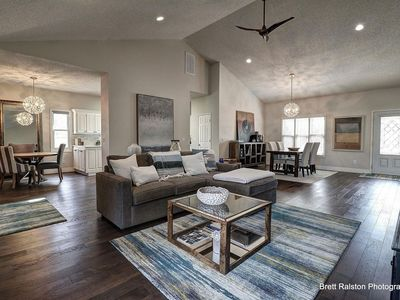 Photo for Beautiful Home w/ heated  Pool, Hot Tub and connected to Bike Trails!