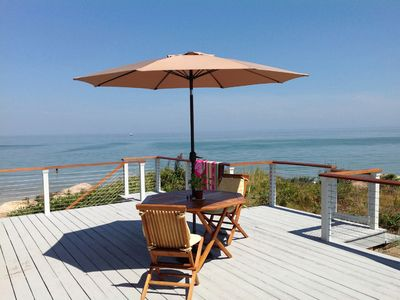 Photo for Waterfront Wingaersheek Beach Unobstructed Panoramic Ocean and Lighthouse Views