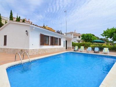 Photo for Club Villamar - A colourful, authentic Spanish and comfortable villa with a large swimming pool a...