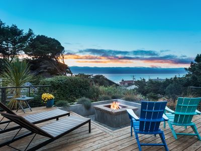 Photo for Luxury, Oceanview, Family home, Firepit! Near Cannon Beach, Steps to Sand!