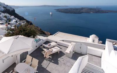 Photo for Firostefani Fira Santorini, Rima House with an enormous private terrace gaze towards the endless horizon !