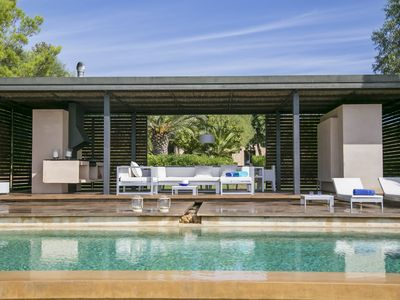 Photo for IMPRESSIVE DESIGN VILLA NEAR PALMA WITH AN AMAZING PORCH, INFINITY POOL AND BBQ