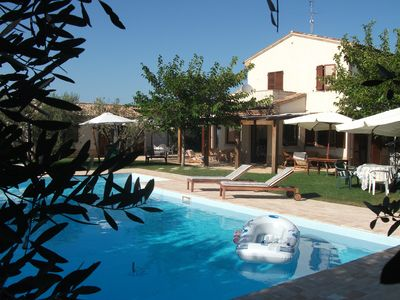Photo for VILLA WITH PRIVATE POOL AND HYDROMASSAGE 10 MINUTES FROM THE SEA
