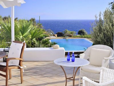 Photo for Villa Anastasia of Lia with Mykonian superb view of the Aegean sea