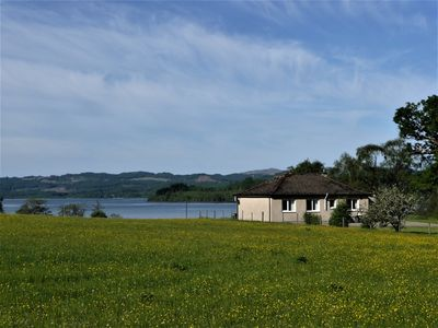 Photo for Lovely view over Loch Awe, hills and fields - Waterfall nearby - south facing