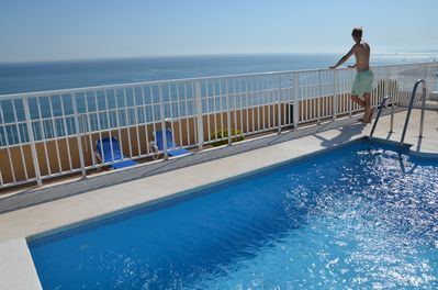 Rooftop pool with fantastic sea view