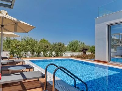 Photo for Trinity Villa - Amazing 3 Bedroom Luxury Villa with AC, Private Pool and Roof Terrace with Jacuzzi, only 200 Meters from the Beach ! FREE WiFi