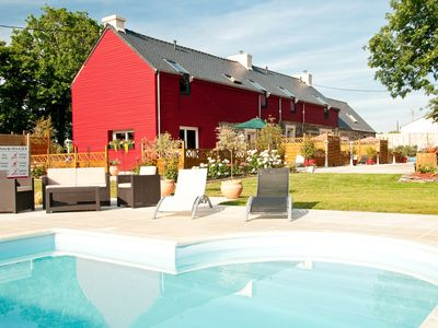 Photo for # Gîte 'L'ARVOR' in FINISTERE With Covered Pool and Heated