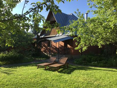 Photo for Compact Russian style Country House with Sauna and outdoor BBQ facilities