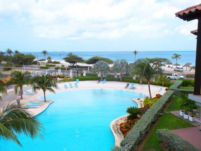 Photo for BEACHFRONT - EAGLE BEACH - OCEANIA RESORT - Deluxe View 2BR condo - E323