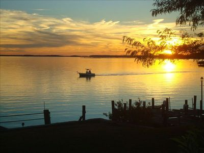 Photo for Water Front Retreat - Sunrise and Sunset Water Views