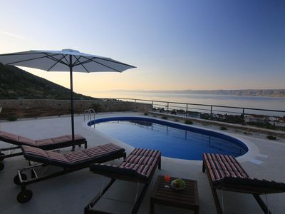 Photo for Beautiful villa with the best sea view and heated pool in Bol