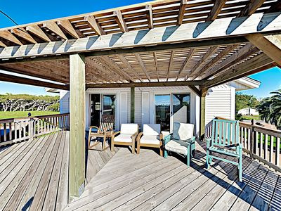 Photo for Coastal Home w/ Covered Deck, Expansive Yard, Boat Port & Bay Views