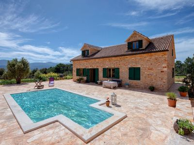 Photo for Rustic Villa Hvar with private pool