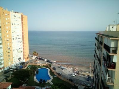 Photo for 3 bedroom apartment in front of the beach with pool.
