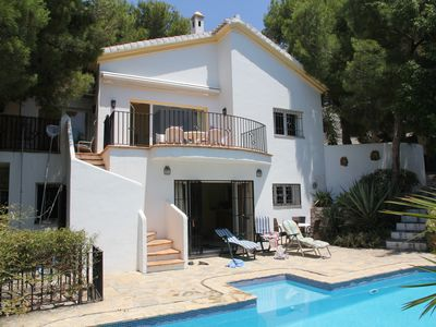 Photo for Luxury modern villa with private pool & garden, & enjoying glorious sea views