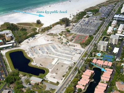 Photo for Siesta Key Townhouse across from pristine sand & blue waters 2bd/2b King & Queen