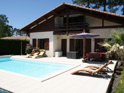 Photo for CHALET LANDAIS Bassin d'Arcachon with swimming pool
