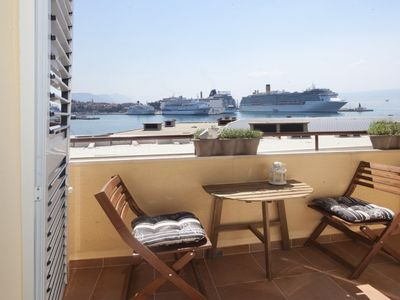 Photo for **** Apartment Xenios with sea view, waterfront, old town, balcony, air conditioning