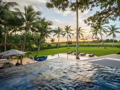 Photo for Stunning Open-Space Villa, Salt Water Infinity Pool, Jacuzzi, Full Staff incl. Cook, AC, Free Wifi